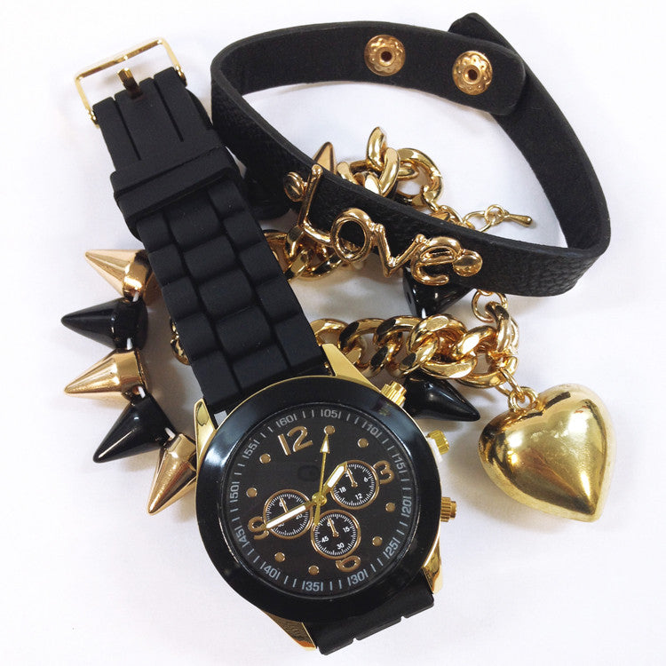 LOVE Bracelets and Watch Set
