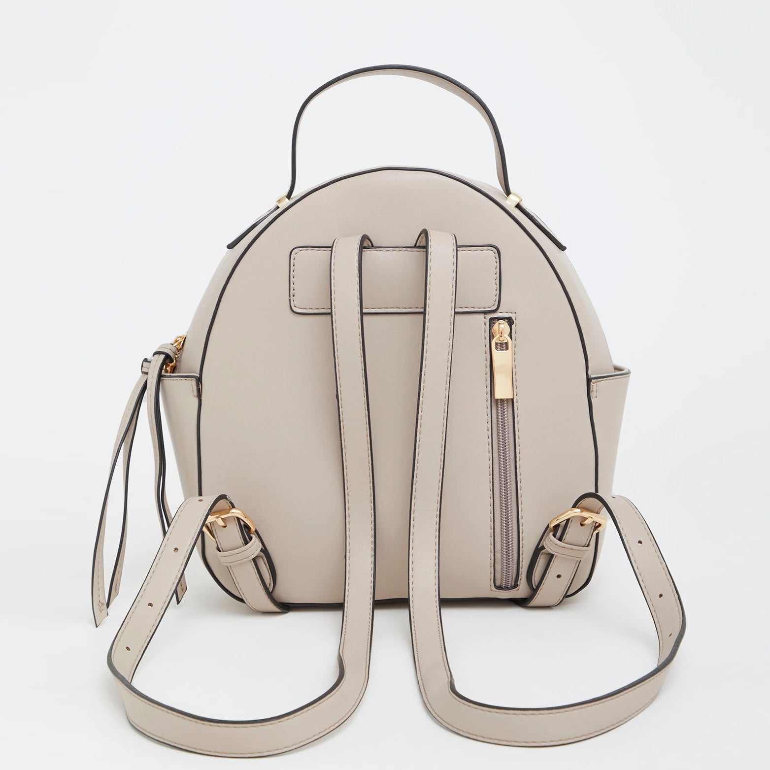 Leather Stitched Backpack