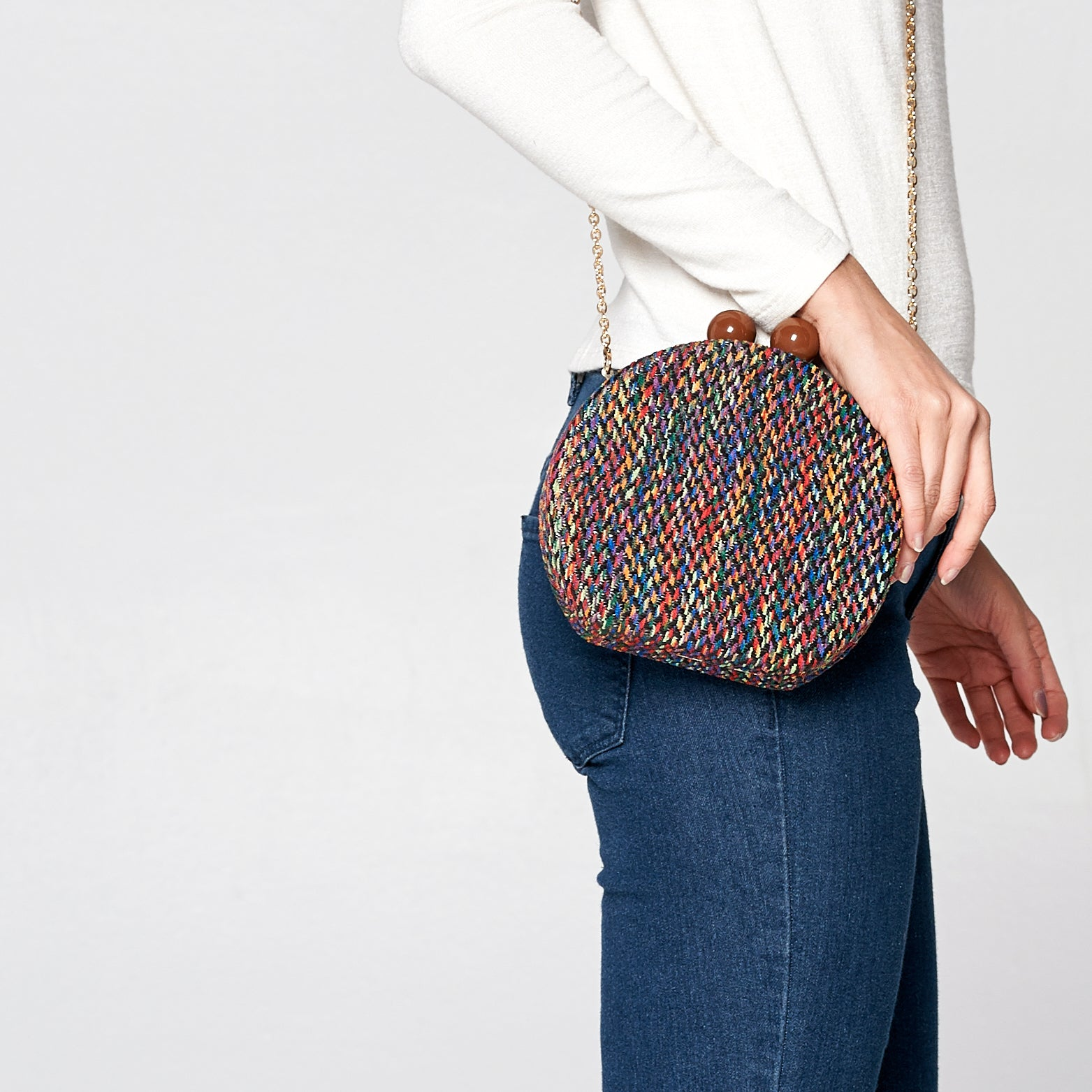 Herringbone Moon Clutch - Love, Kuza