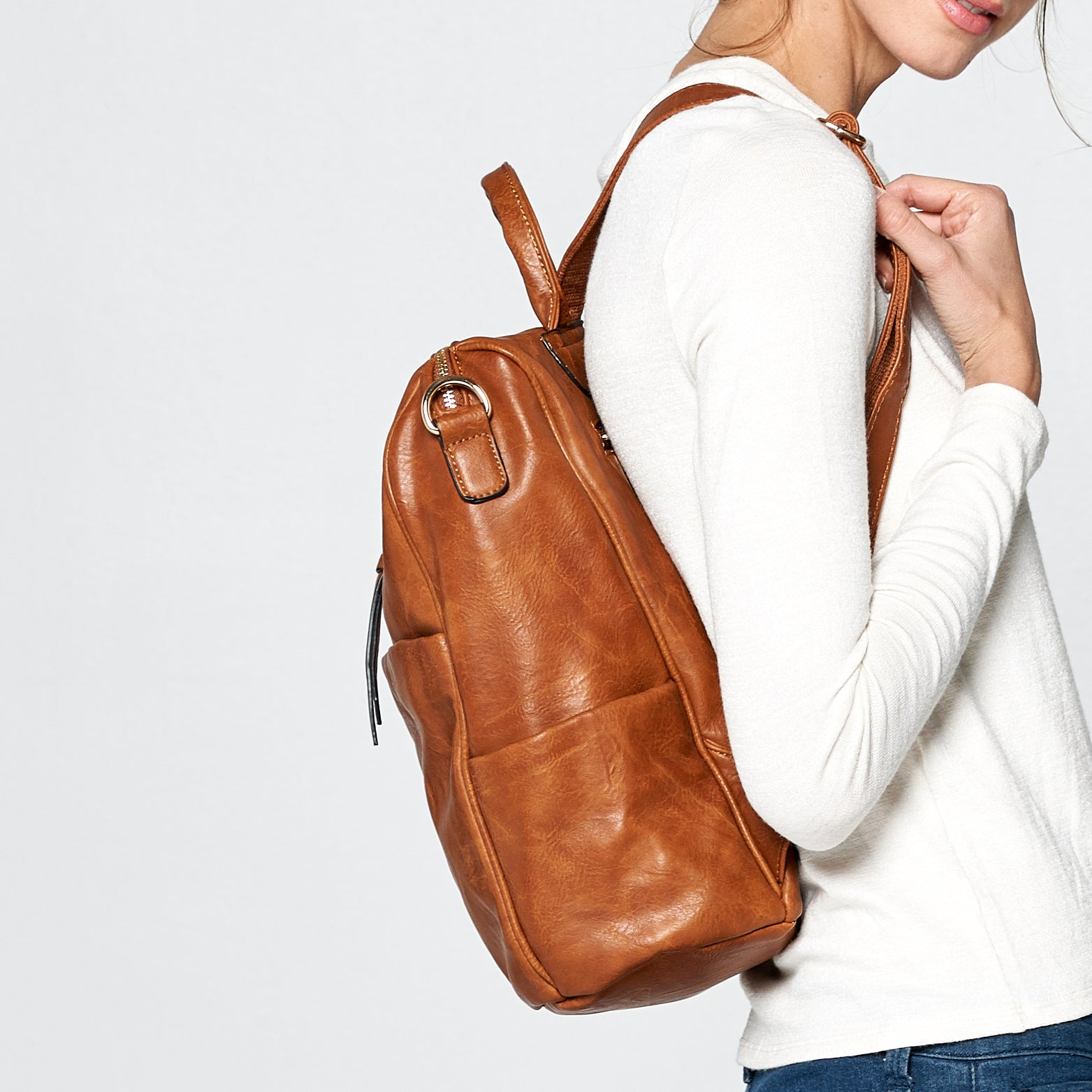 Retro Soft Leather Backpack