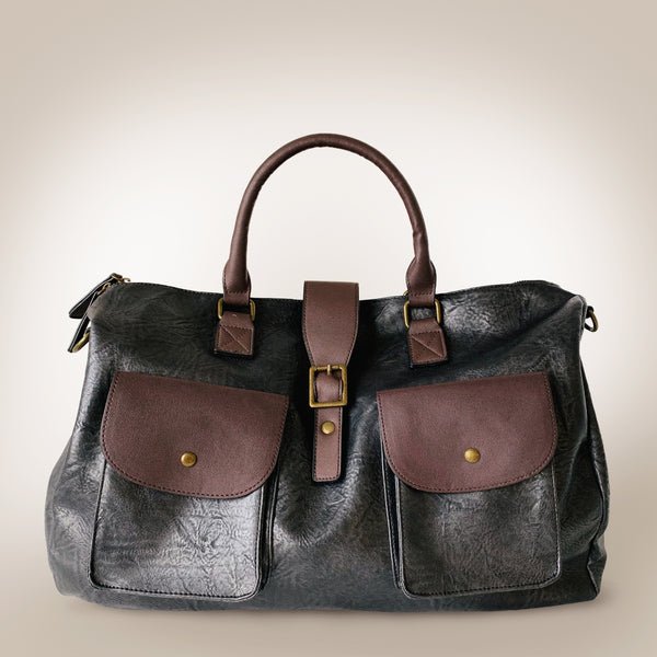Slouchy Leather Large Duffel Bag