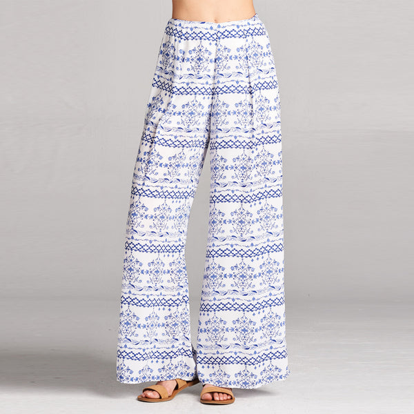 Santorini Wide Leg Trousers