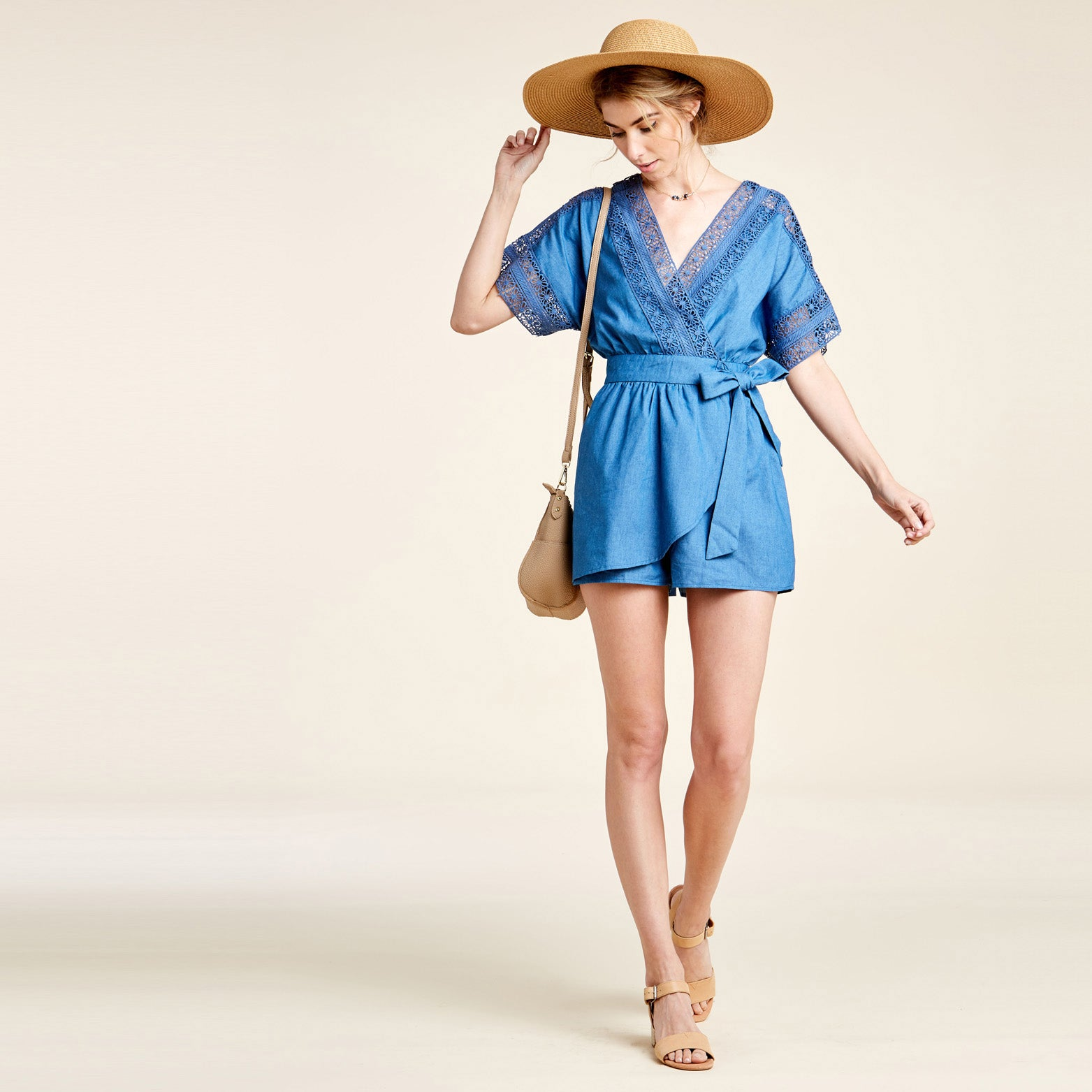 Denim Escape Romper - Love, Kuza