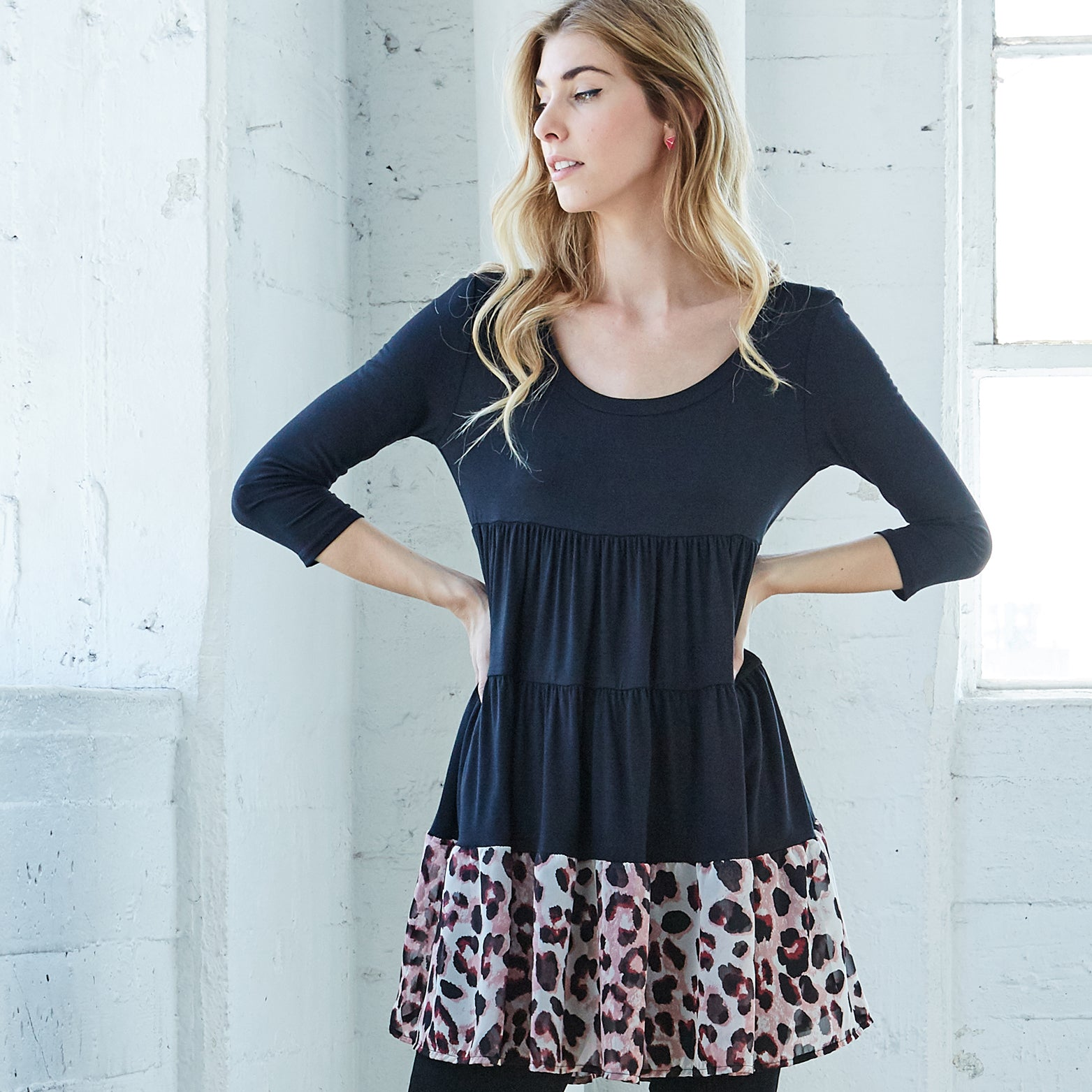 Wild Side Tunic Top