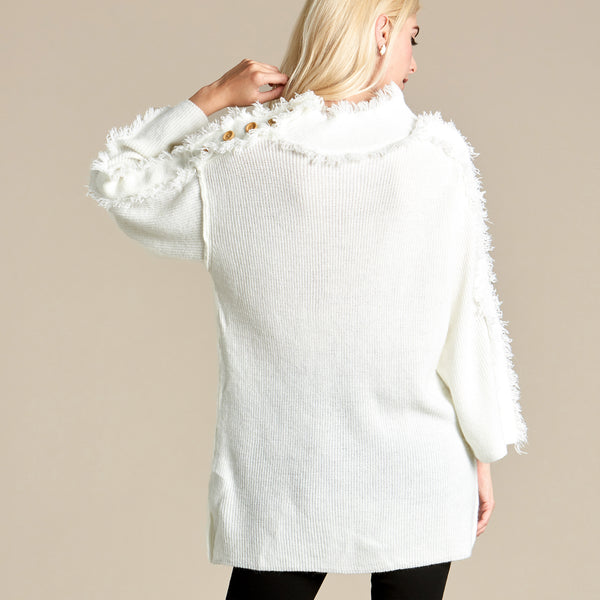 Fringe Me On Tunic Sweater