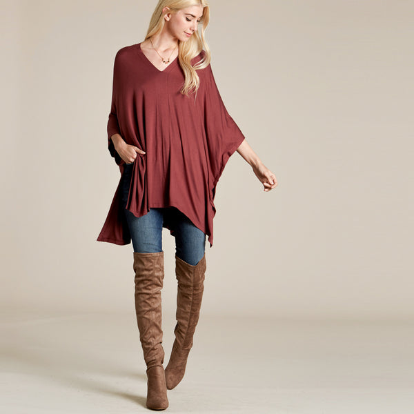 Not Too Oversized Tunic Top - Love, Kuza