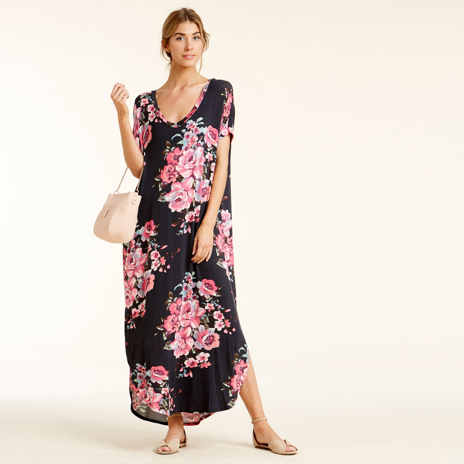 RL Pansy Bloom Maxi Dress