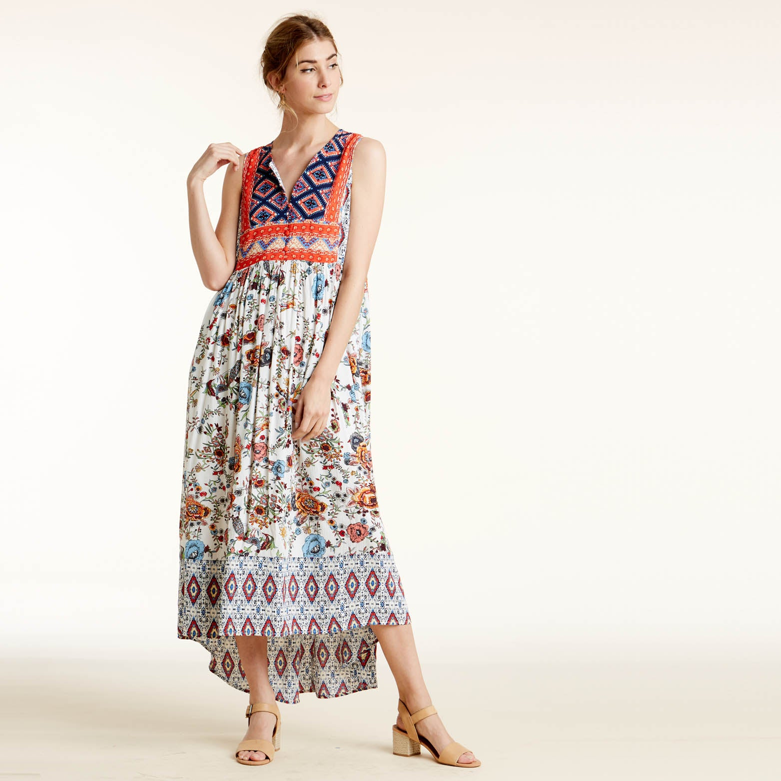 Bohemian Vibes Hi-Lo Maxi Dress