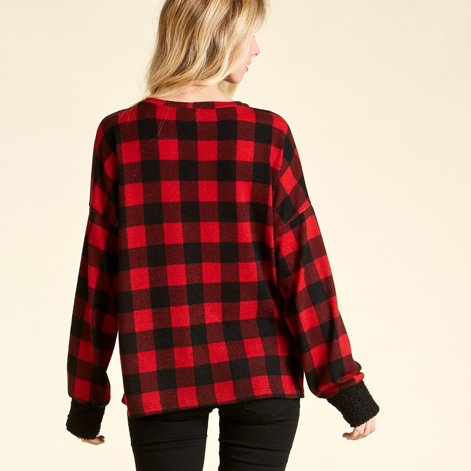 Cozy Plaid Sweater - Love, Kuza