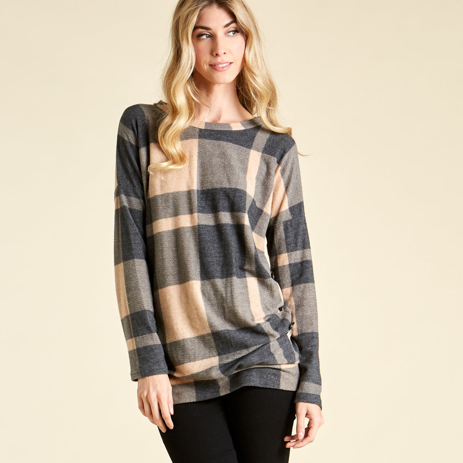Soft Plaid Sweater - Love, Kuza
