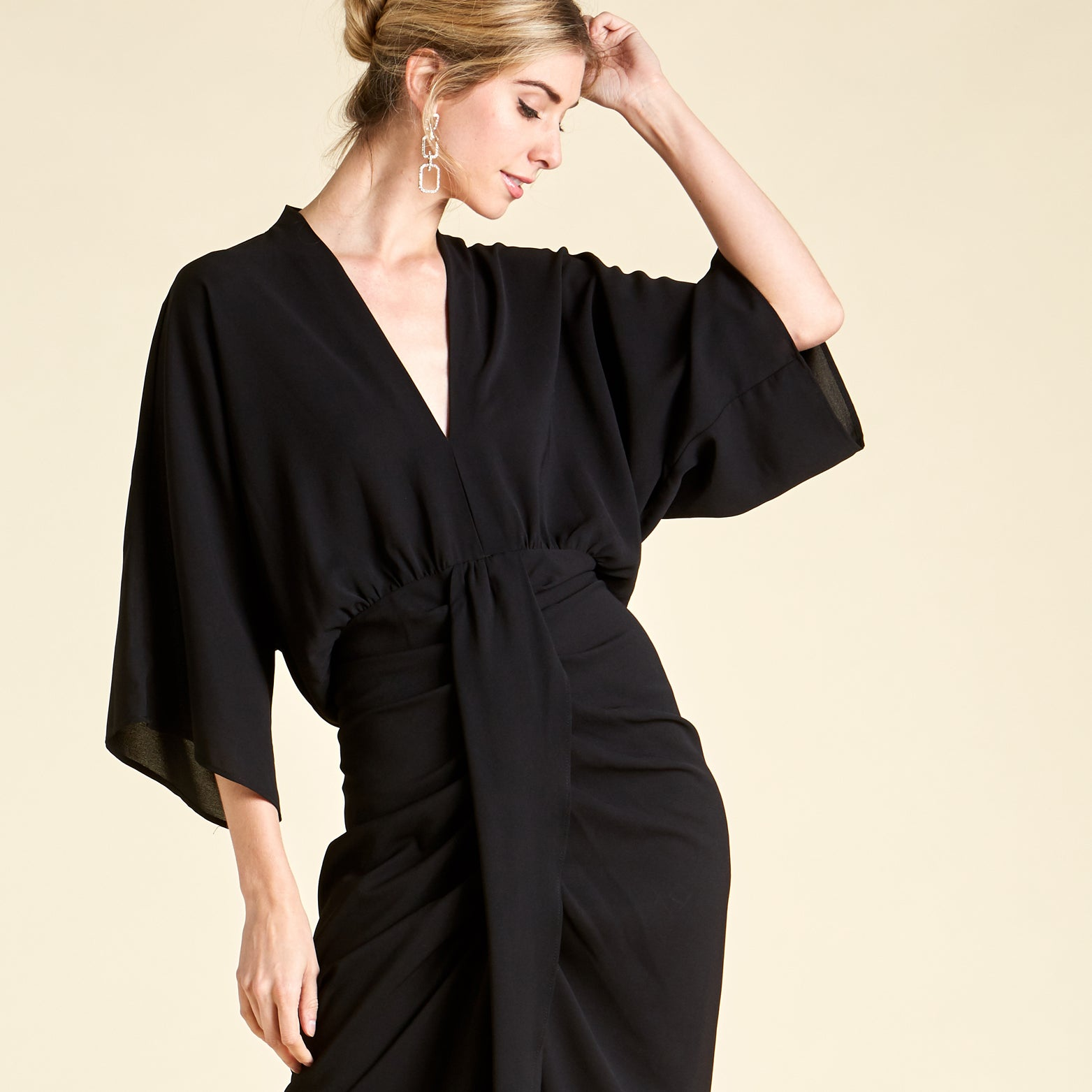 Ebony Delight Kimono Dress