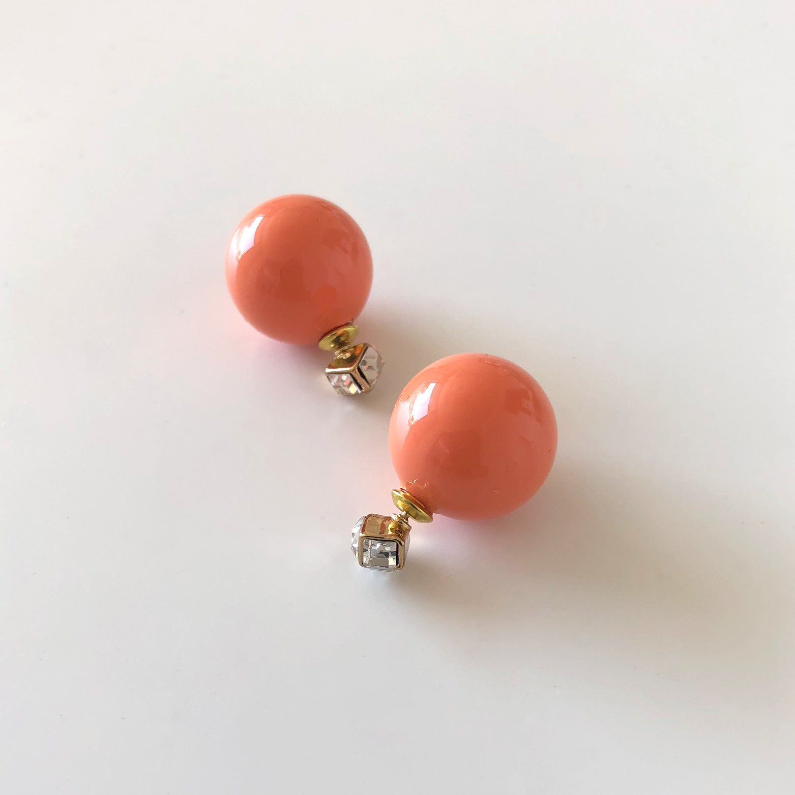 Cube & Bead Stud Earrings