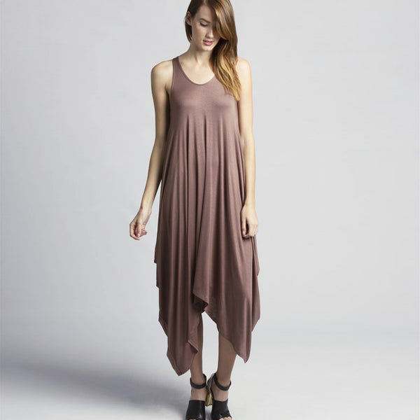 Asymmetrical Flowy Dress