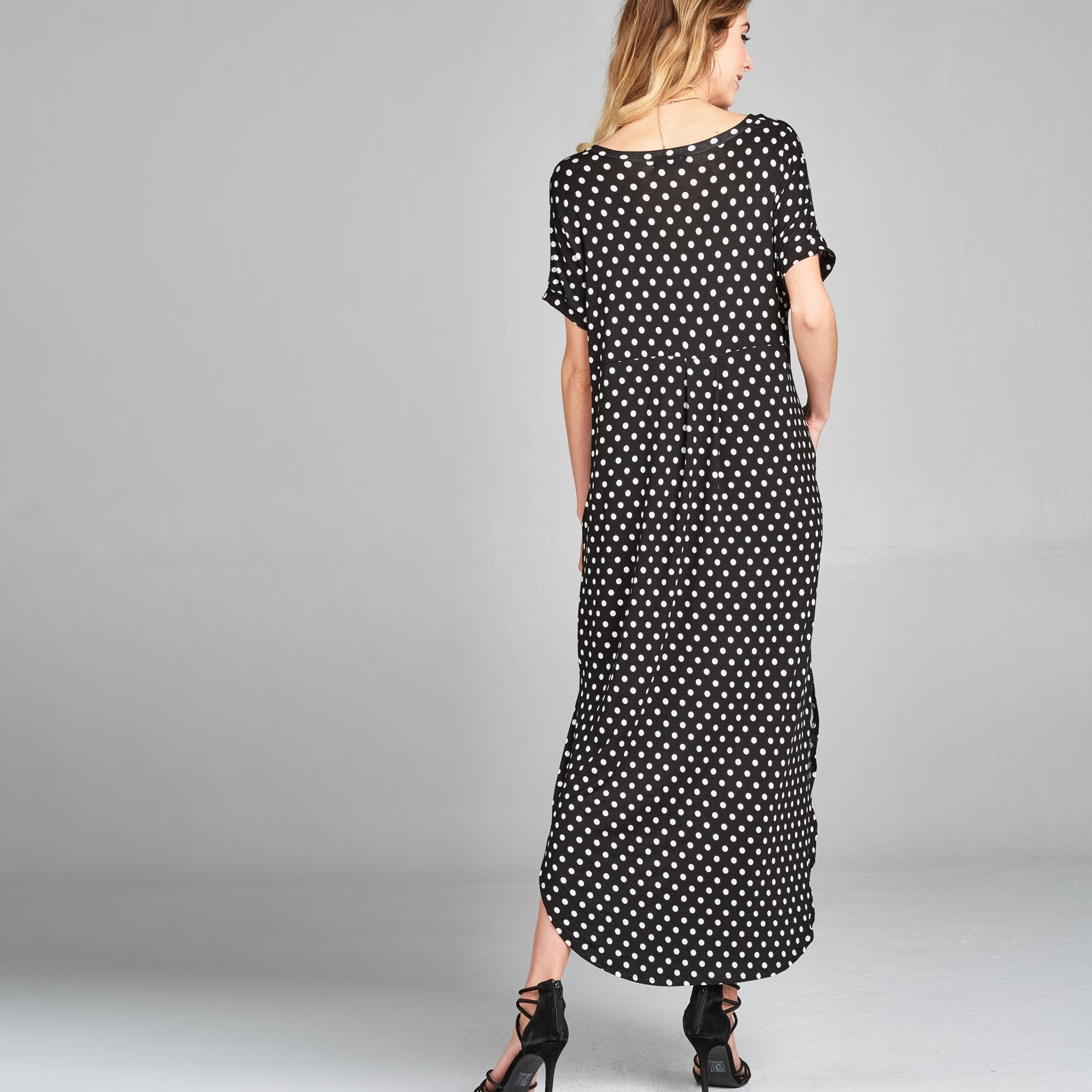 RL Polka Dot Maxi Dress