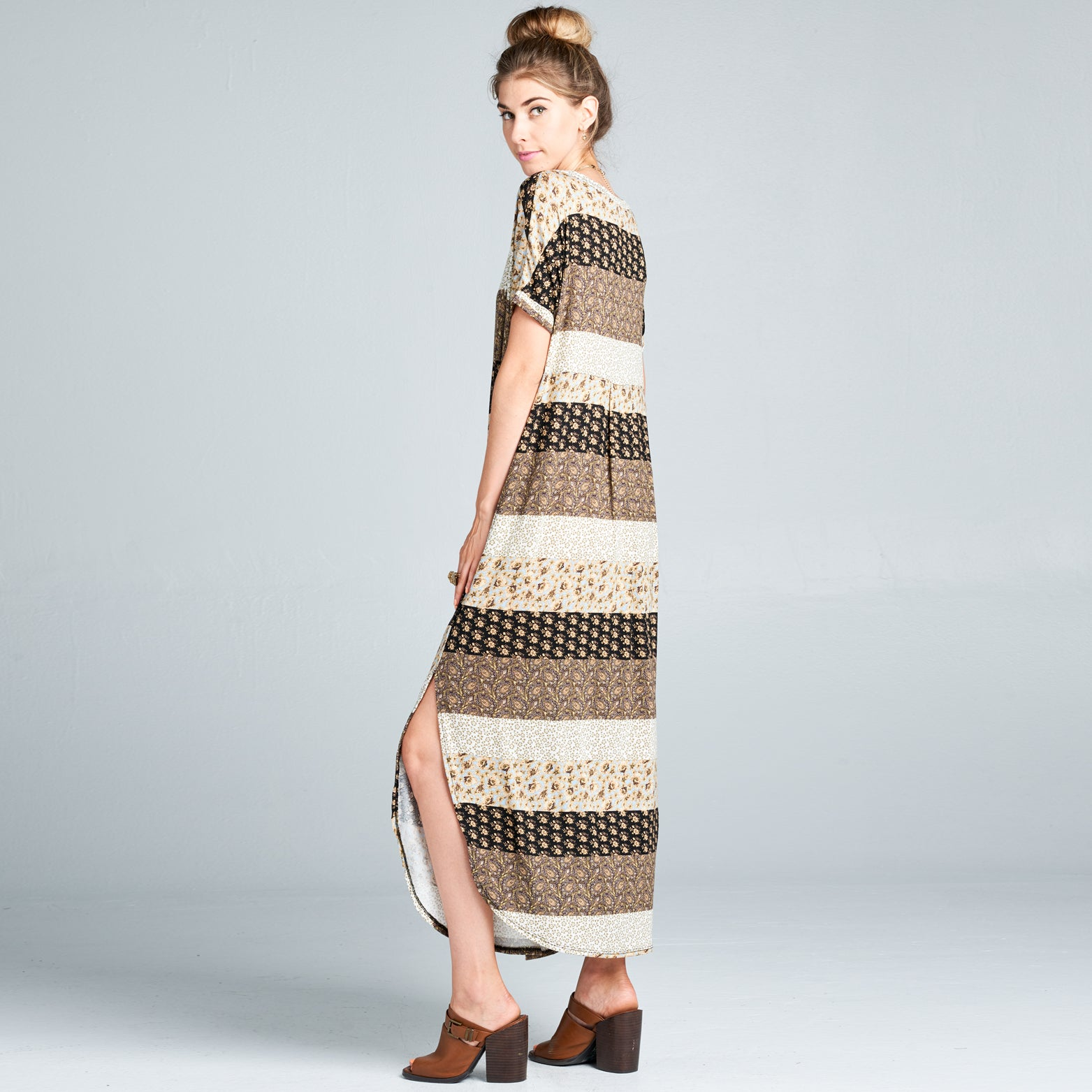 RL Brown Block Maxi Dress - Love, Kuza