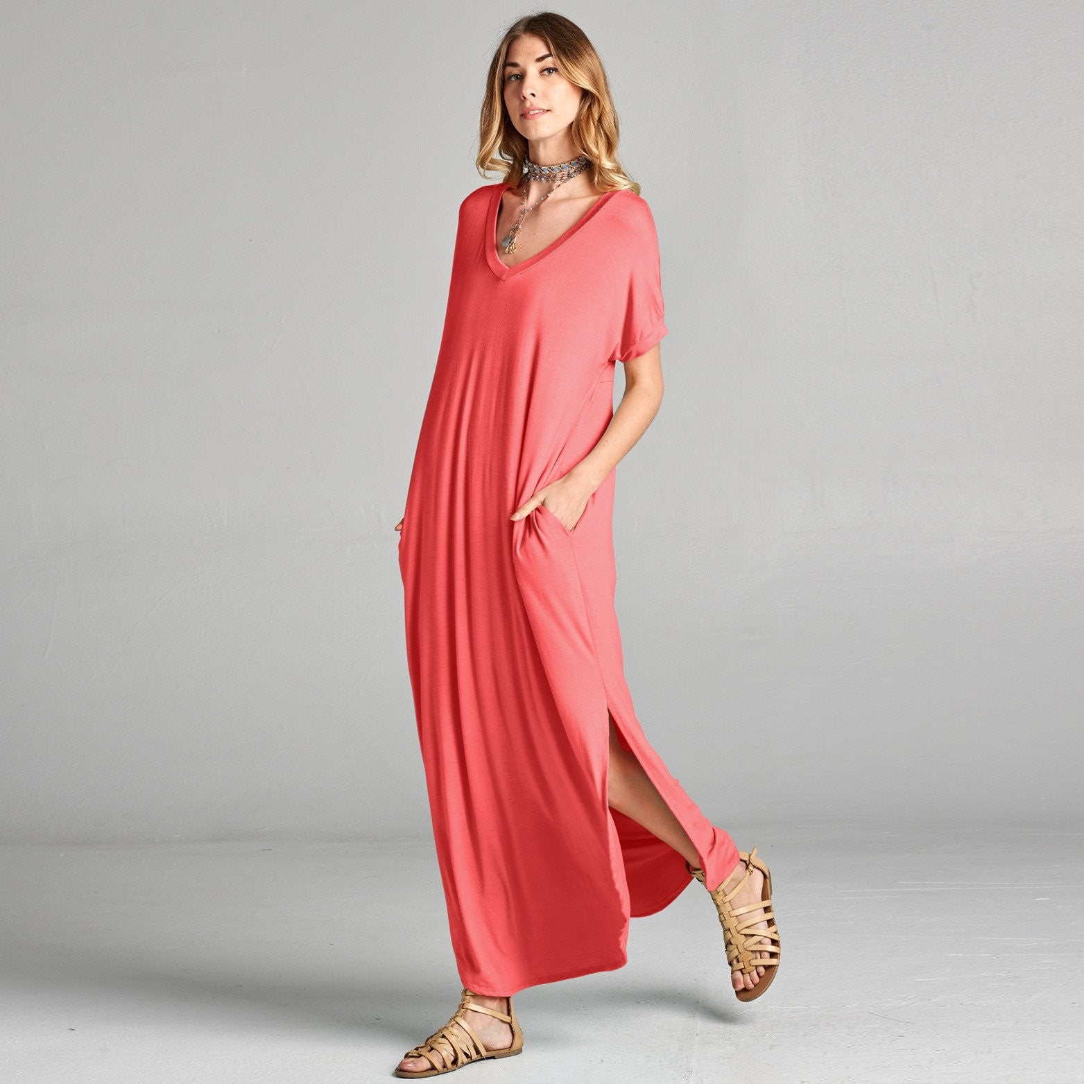 Assorted Solid Maxi Dress