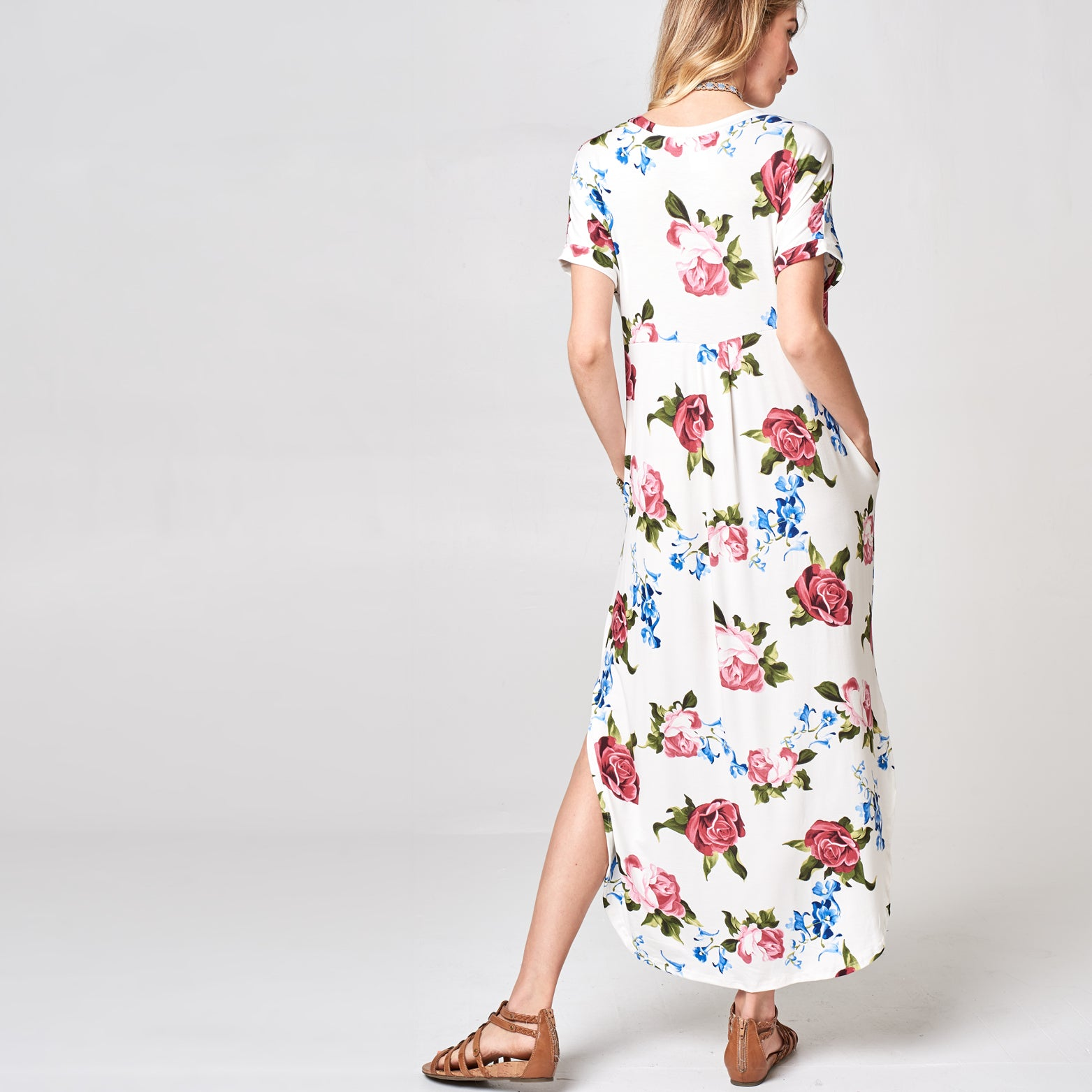 RL Rose Ivory Maxi Dress