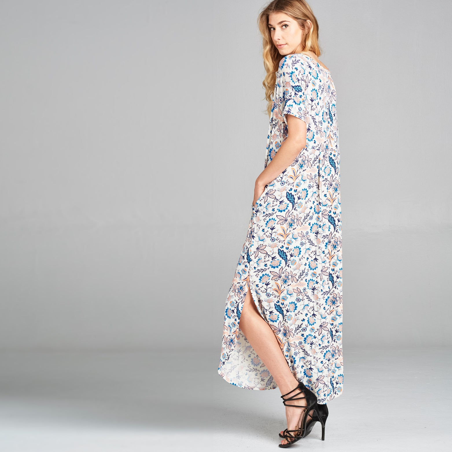 RL Cottage Blue Maxi Dress