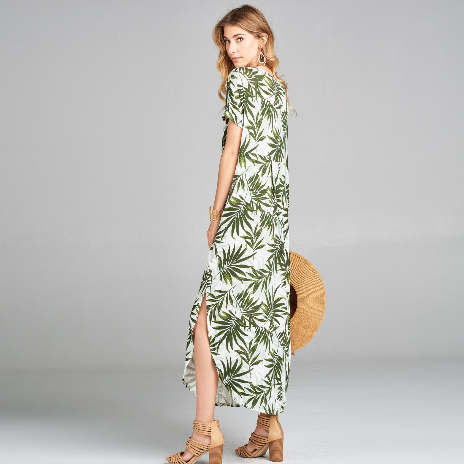 RL Palm Leaf Maxi Dress