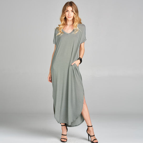 RL Pinstripe Maxi Dress