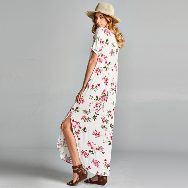 Blossom Maxi Dress with Pockets