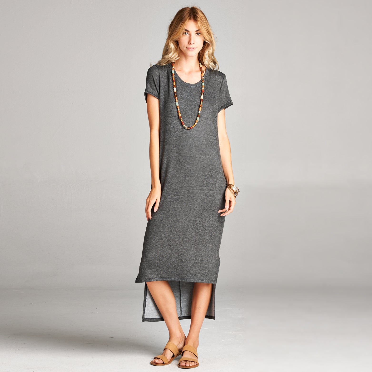 Baby Terry High-Low Maxi Dress