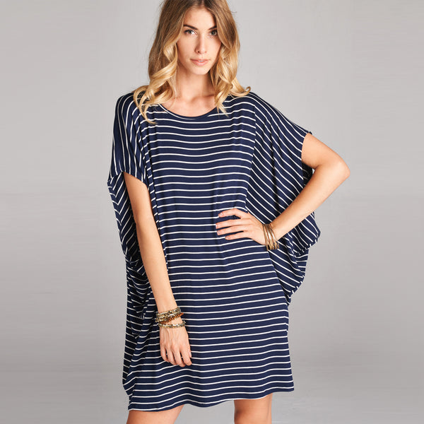Oversized Cap Sleeve Dress