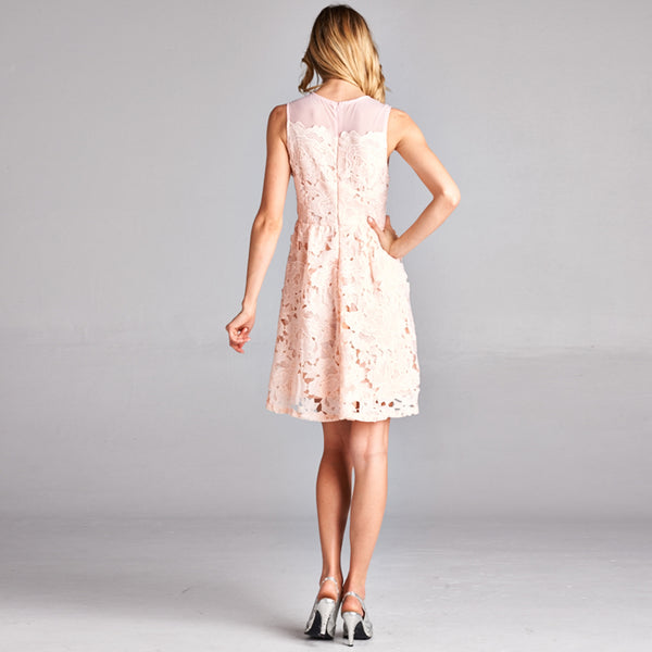 Floral Lace Tea Party Dress