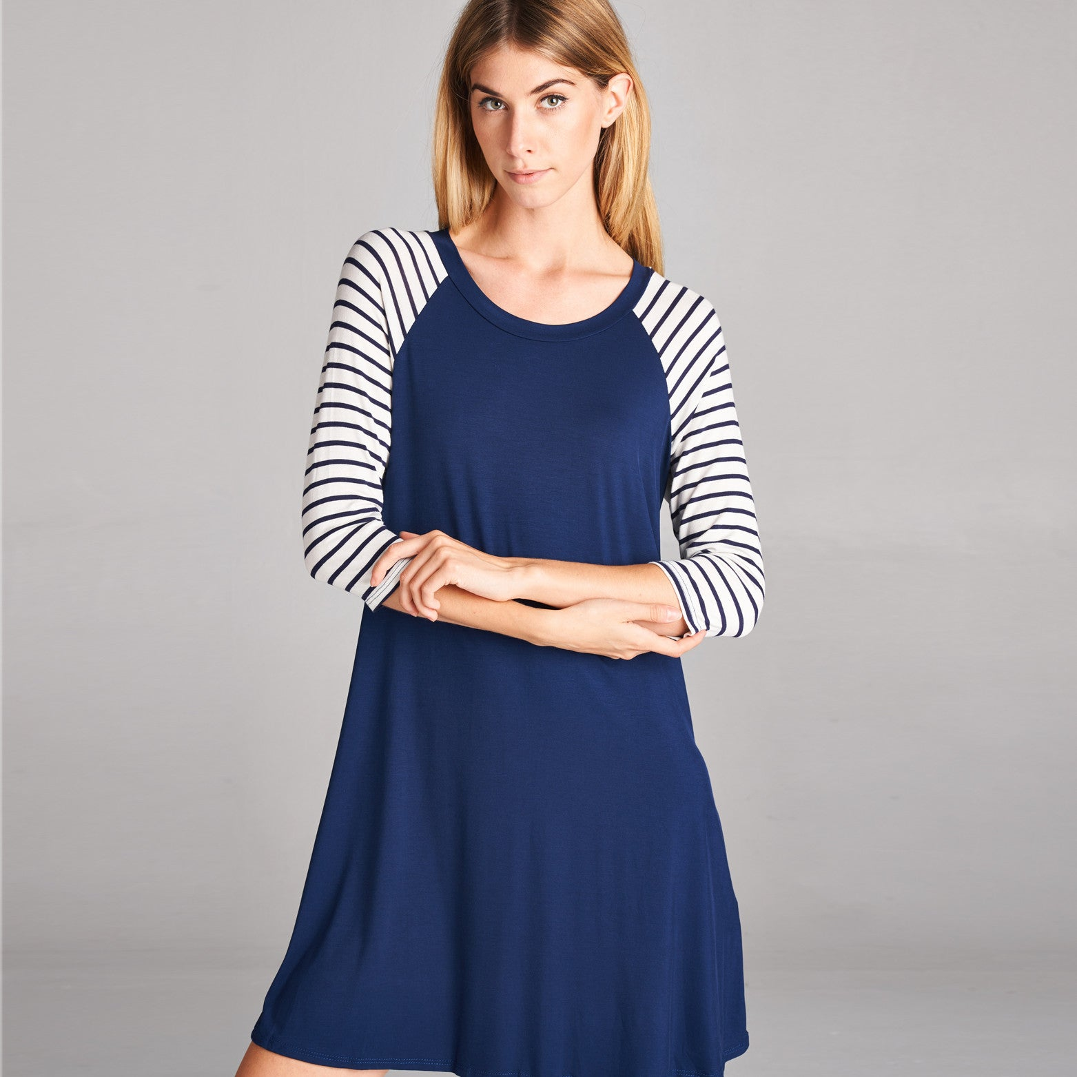 Solid & Striped Sleeve Dress