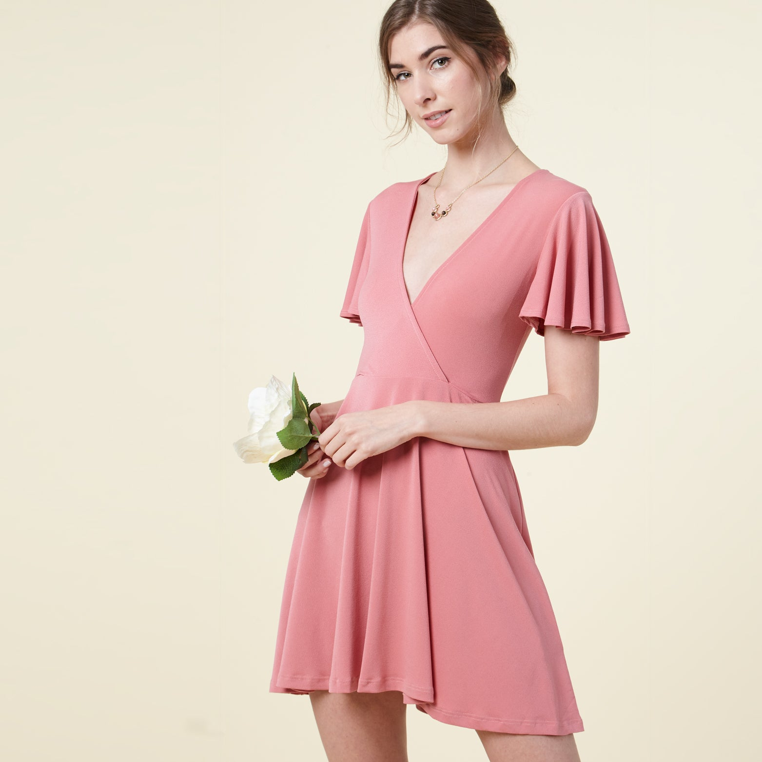 Flutter Sleeve Skater Dress - Love, Kuza