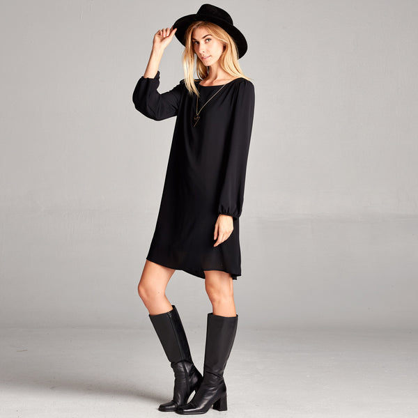 Classic Crepe Shift Dress