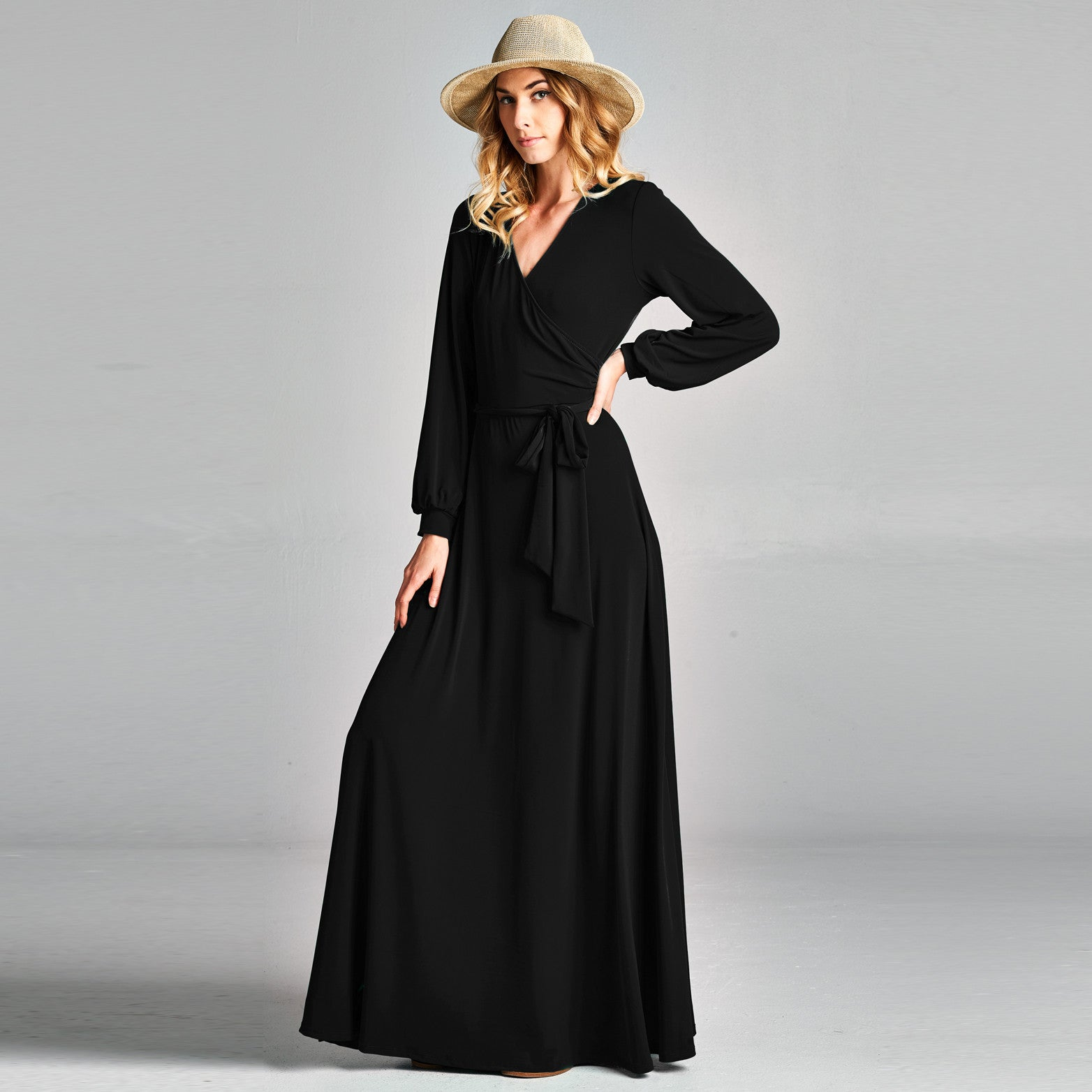 Cuffed Sleeve Venechia Wrap Dress