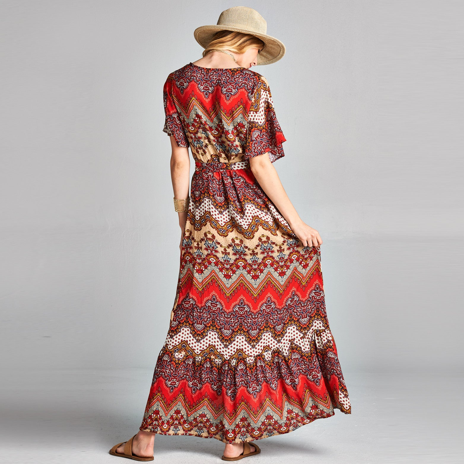 Aztec Wrap Around Dress