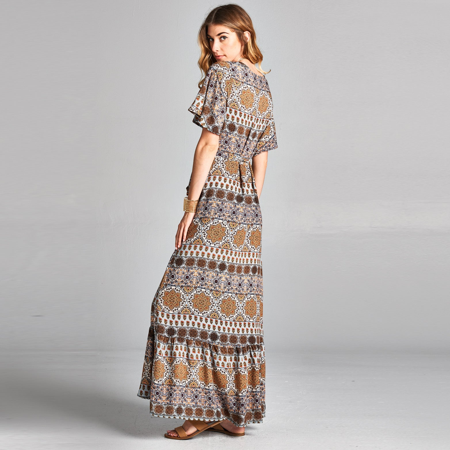 Mandala Wrap Around Dress