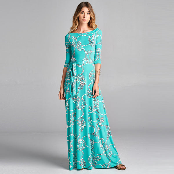 Aqua Venechia Wrap Dress - Love, Kuza