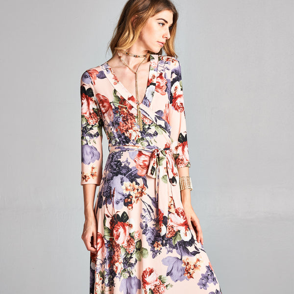 Rose Venechia Wrap Dress