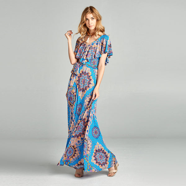 Boho Baroque Maxi Dress