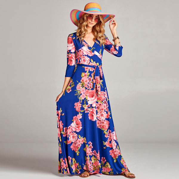 Summer Bouquet Venechia Wrap Dress