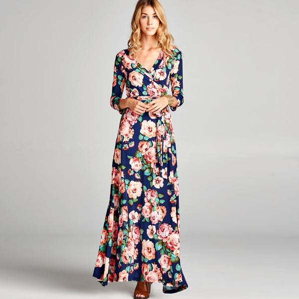 Navy Blossom Venechia Maxi Dress