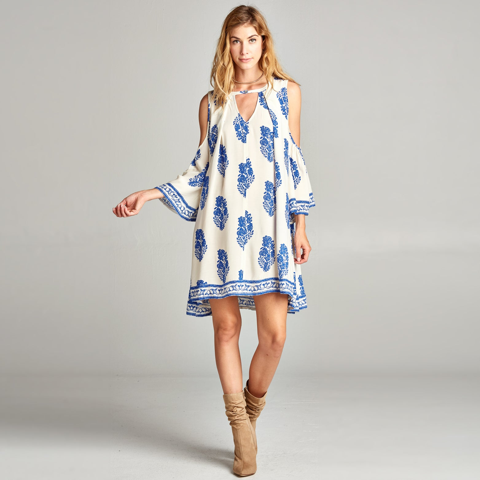 Greek Escape Swing Dress