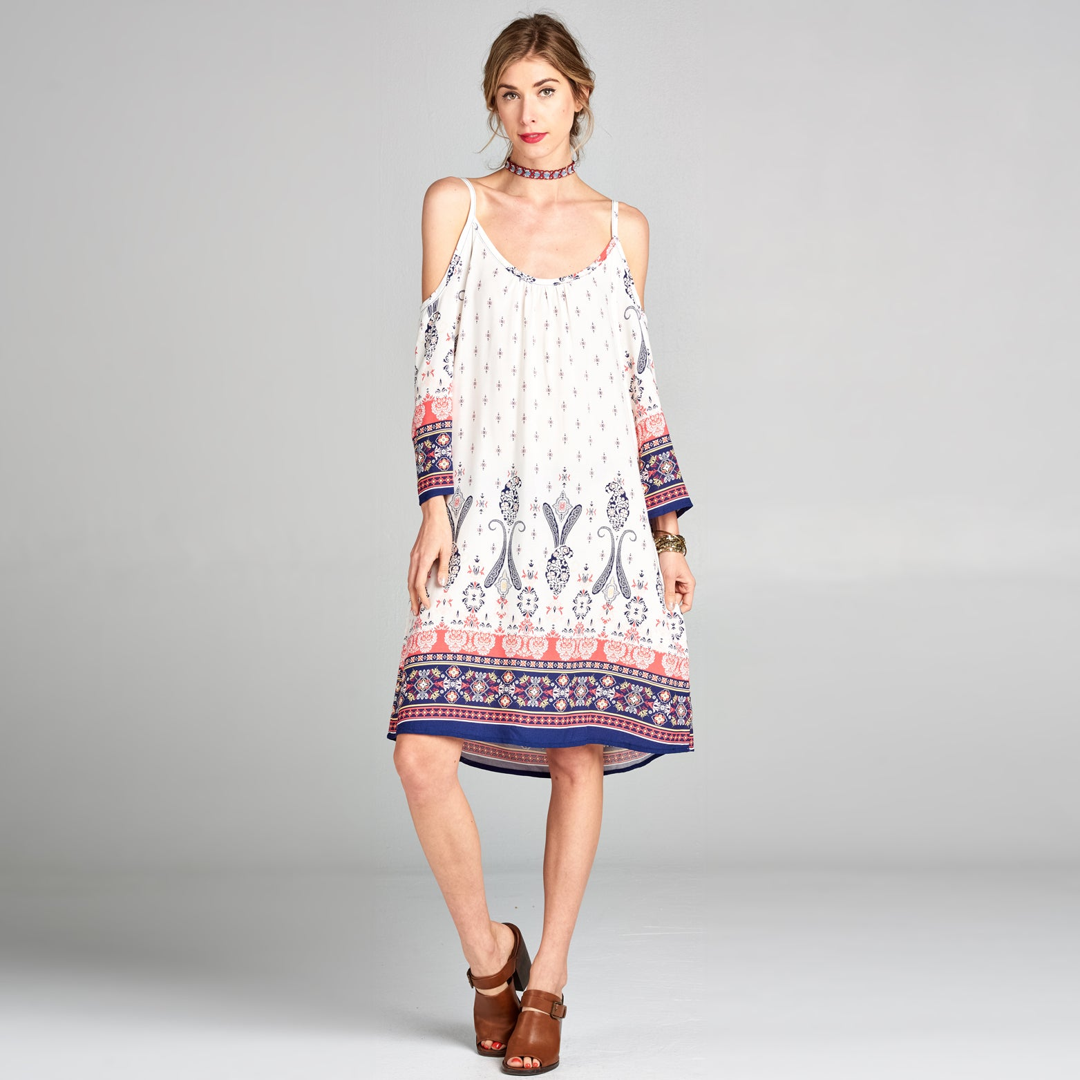 Paisley Border Summer Dress