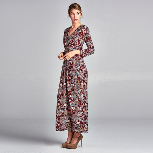 Paisley Front Knot Dress