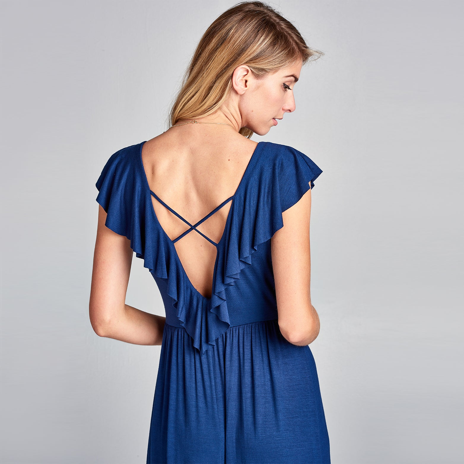 Ruffled Sweetheart Maxi Dress