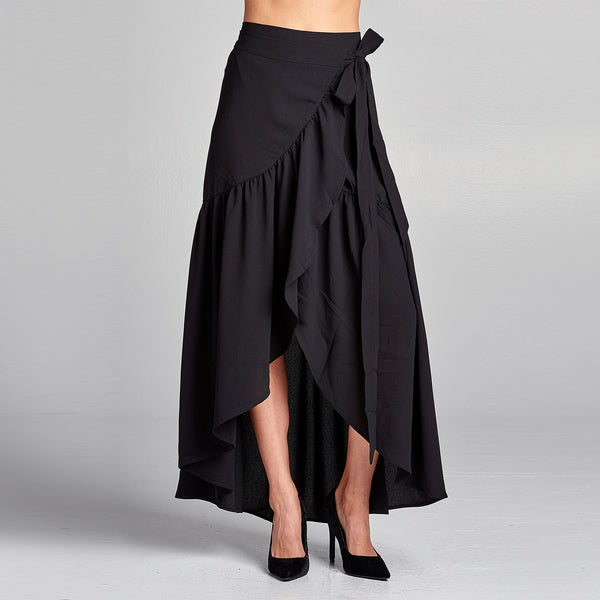 Frilled Wrap Skirt