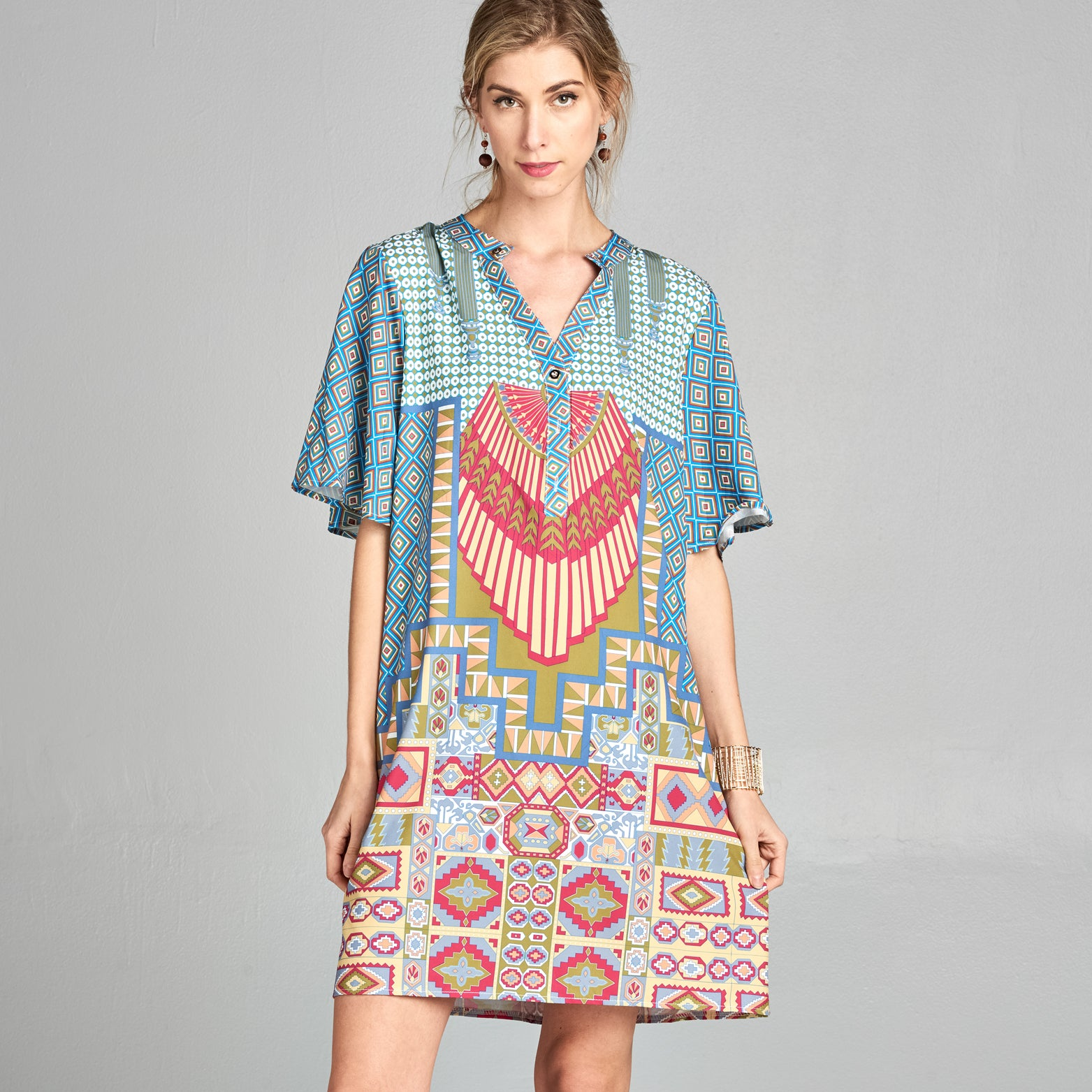 Vintage Geo Shift Dress