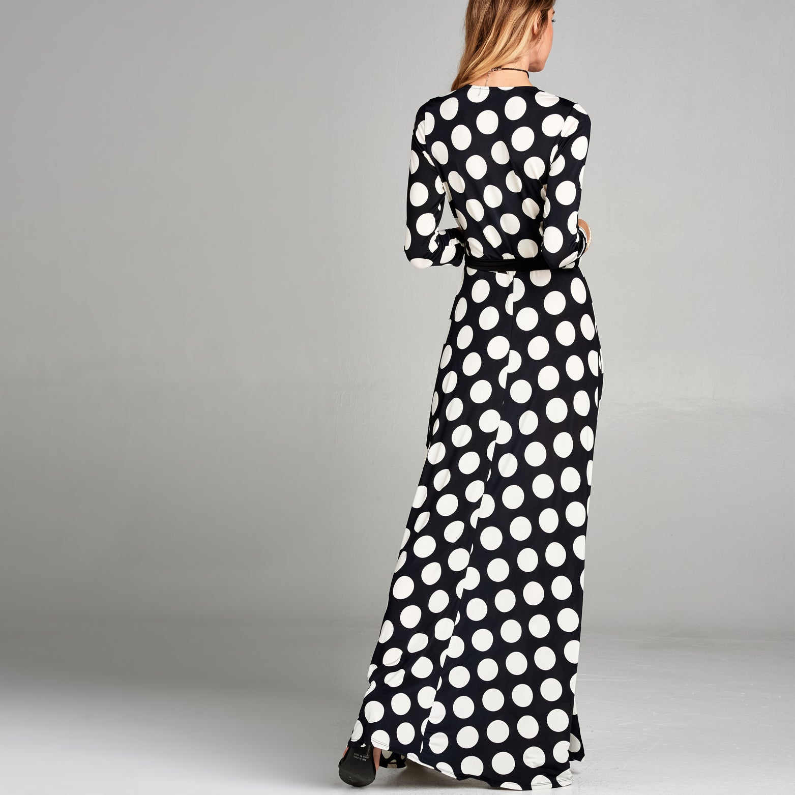 Polka Dot Venechia Wrap Dress