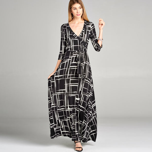 Crosshatch Venechia Wrap Dress - Love, Kuza