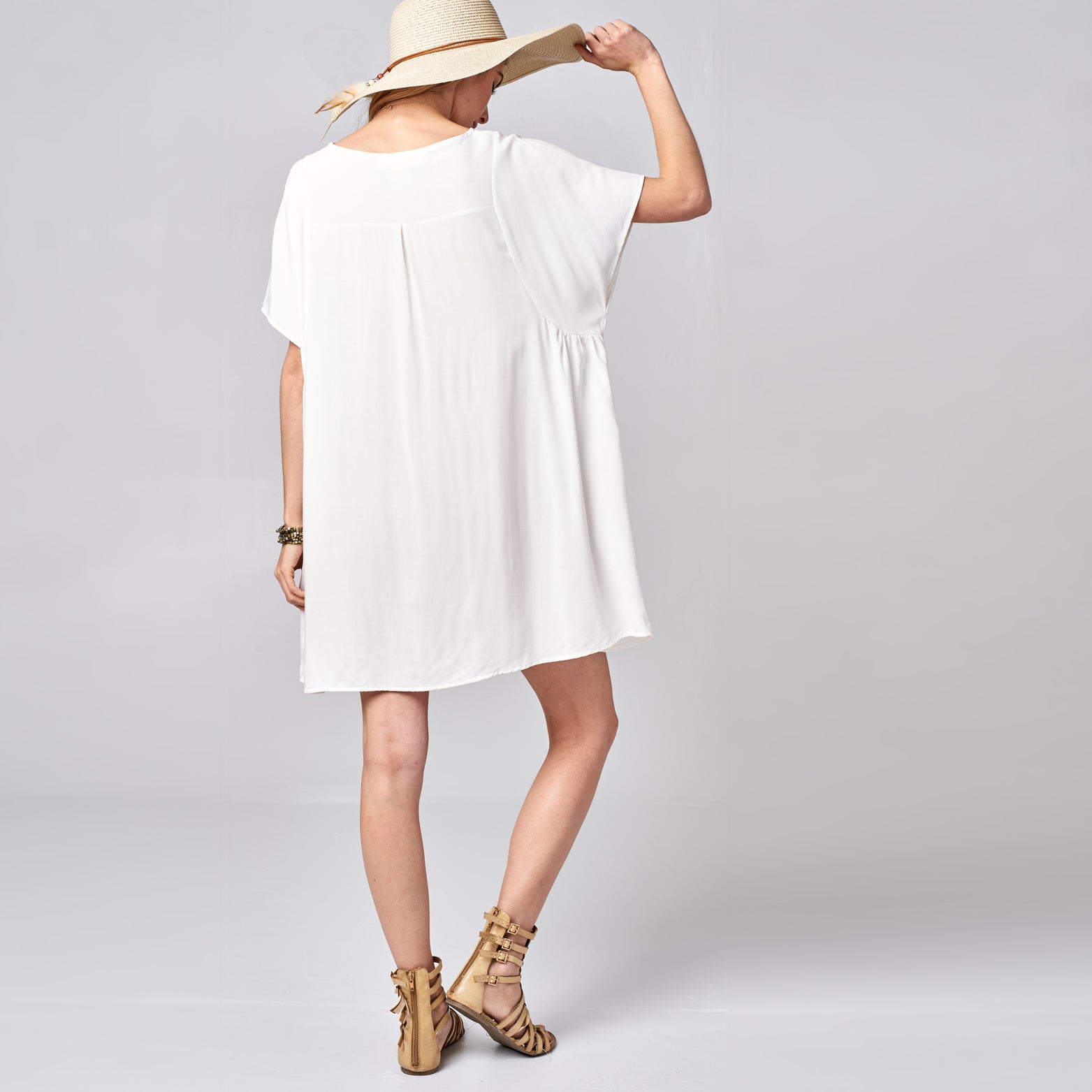 Solid Challis Dress