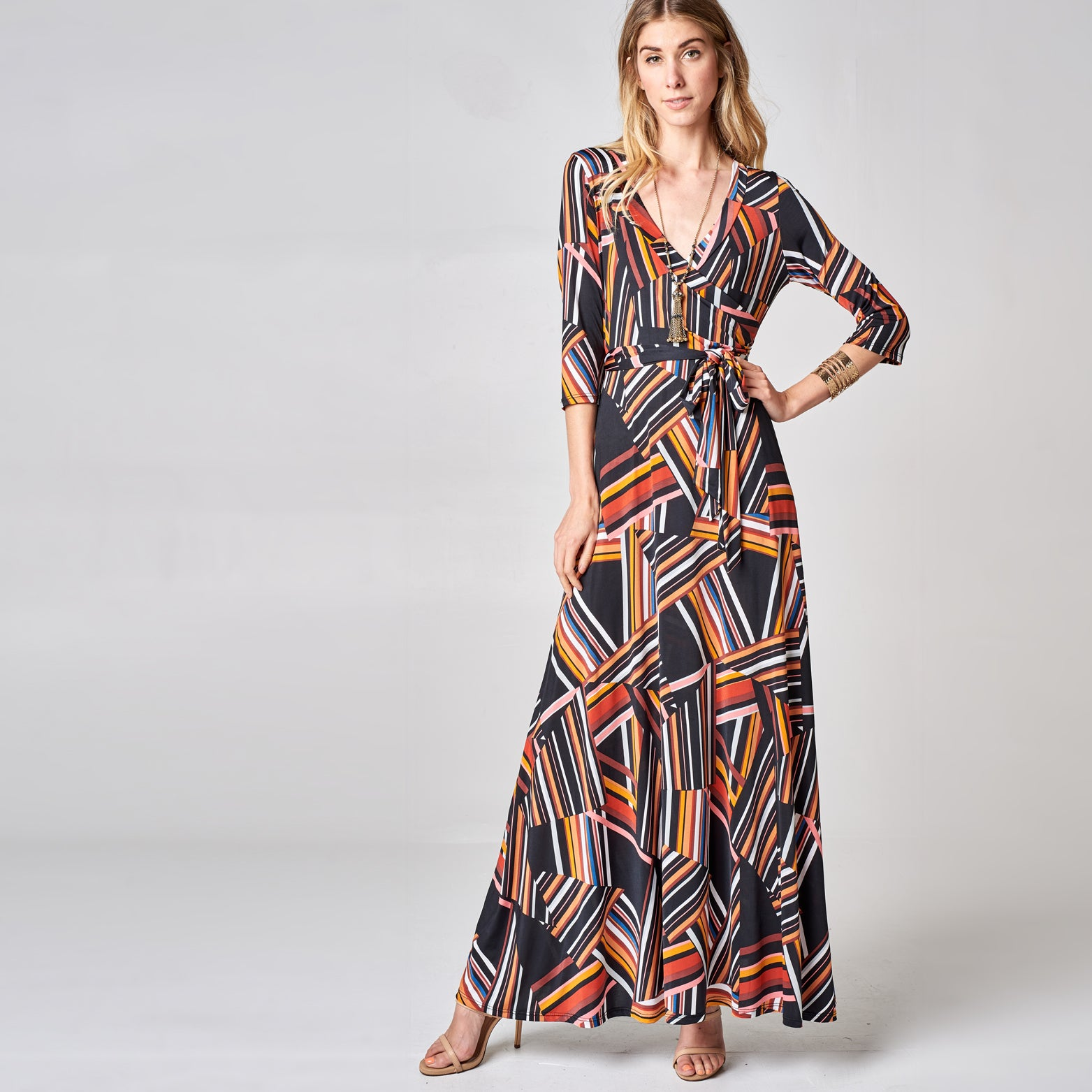 Retro Venechia Wrap Dress - Love, Kuza