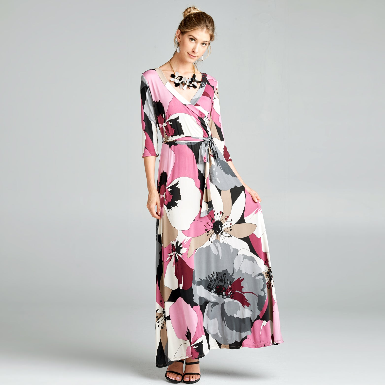 Abstract Poppy Venechia Wrap Dress